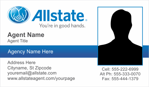 allstate insurance card  Order Allstate Insurance Business Card Templates